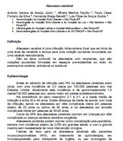 ABCESSO CEREBRAL - LIVRO CONDUTAS HC